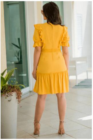 Vestido Viscose - Moda Evangélica Lançamento Luciana Pais (92844 T)