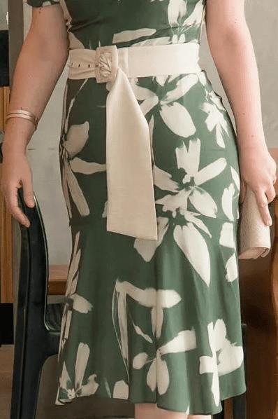 Vestido Viscose Plus Size C Cinto - Moda Evangélica Kauly (2947 T)
