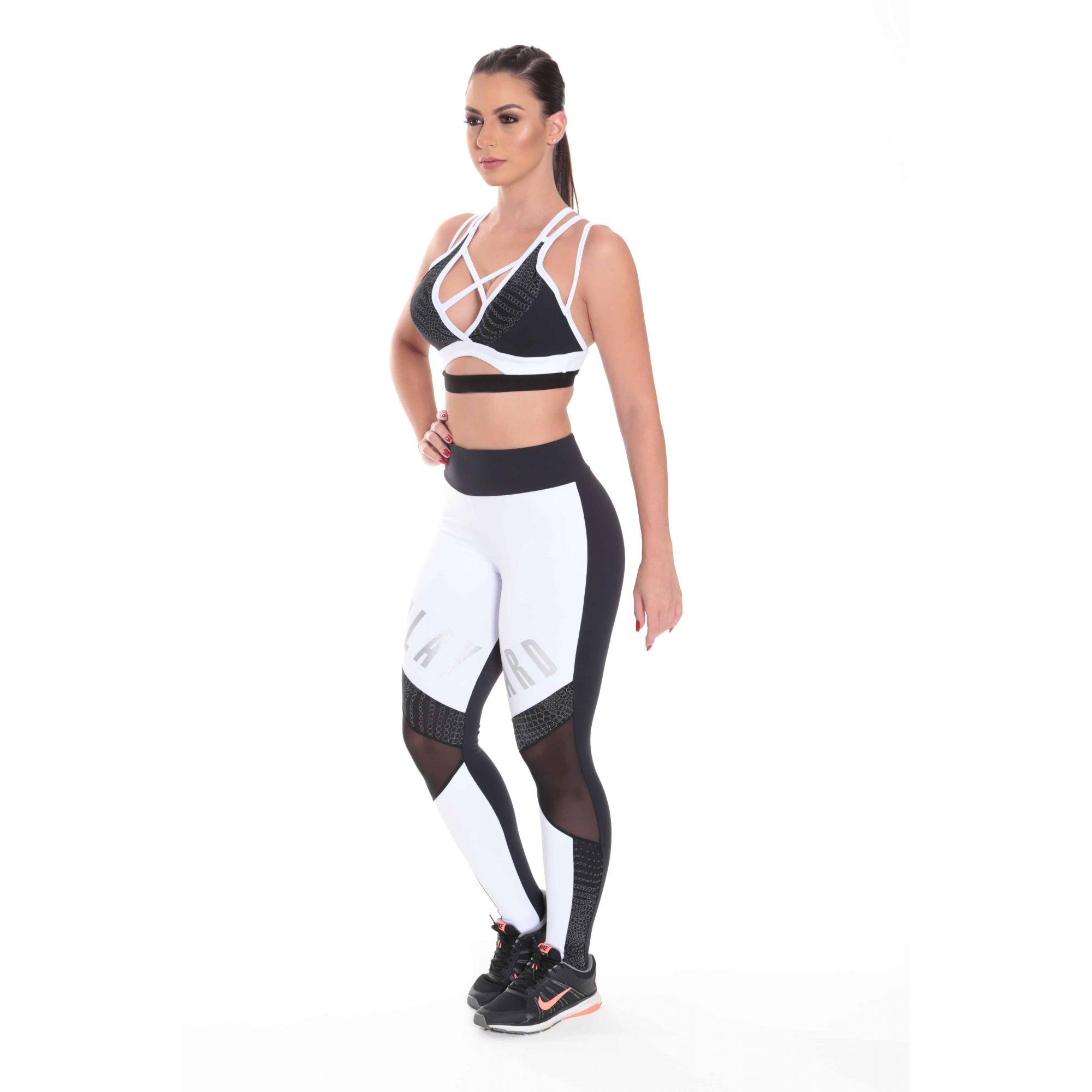 Conjunto Fitness Feminino Leg + Top Roupa de Academia