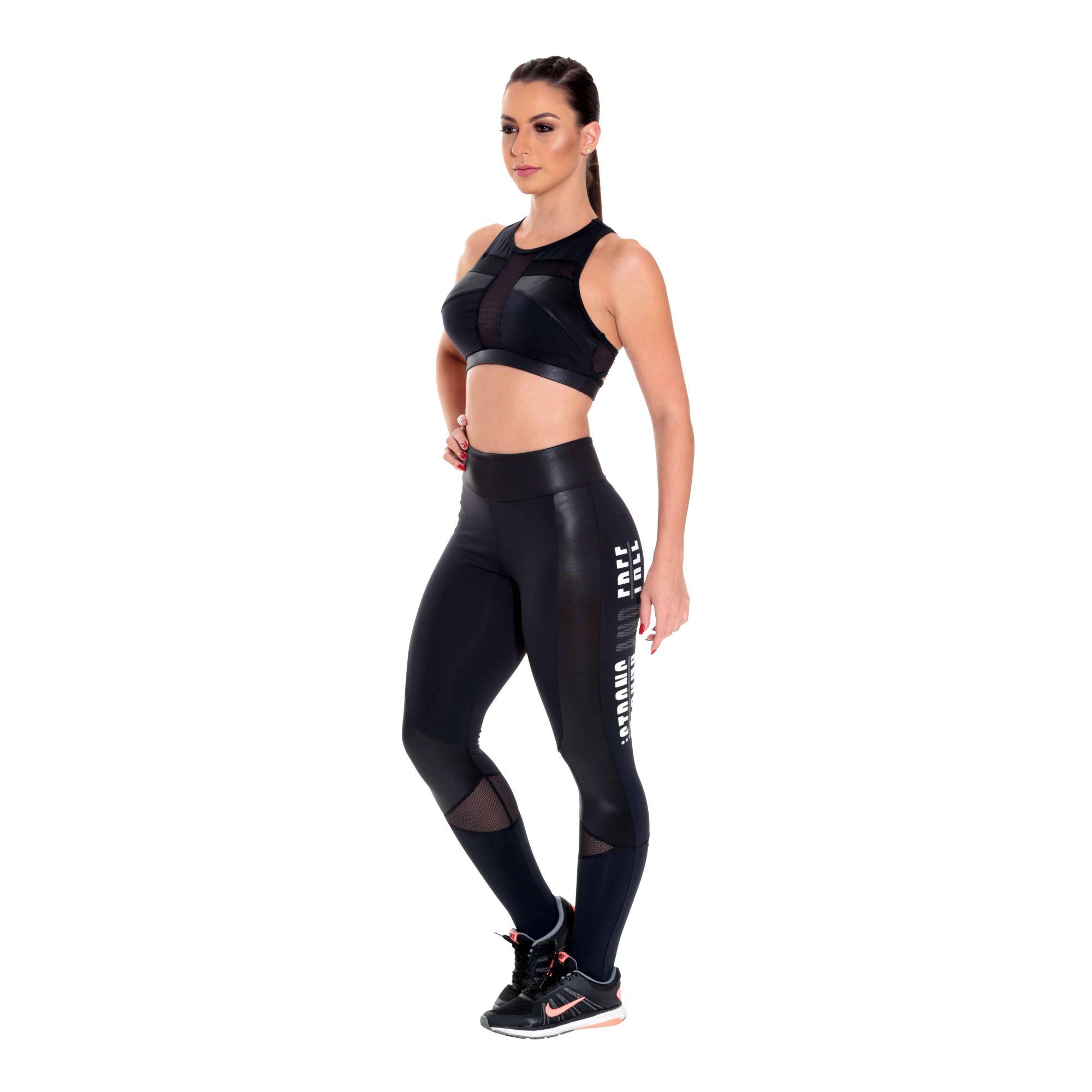 Conjunto top com calça legging em suplex Comfort Plus