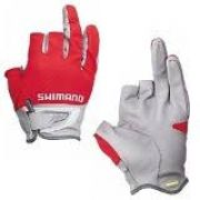 154eddd2e Luva de pesca Shimano 3D Advance Cinza/Verm Tam GG 3 dedos