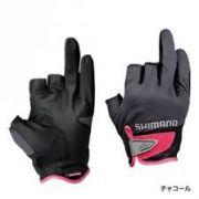 08166207c Luva de pesca Shimano 3D Advance Preto Tam GG 3 dedos