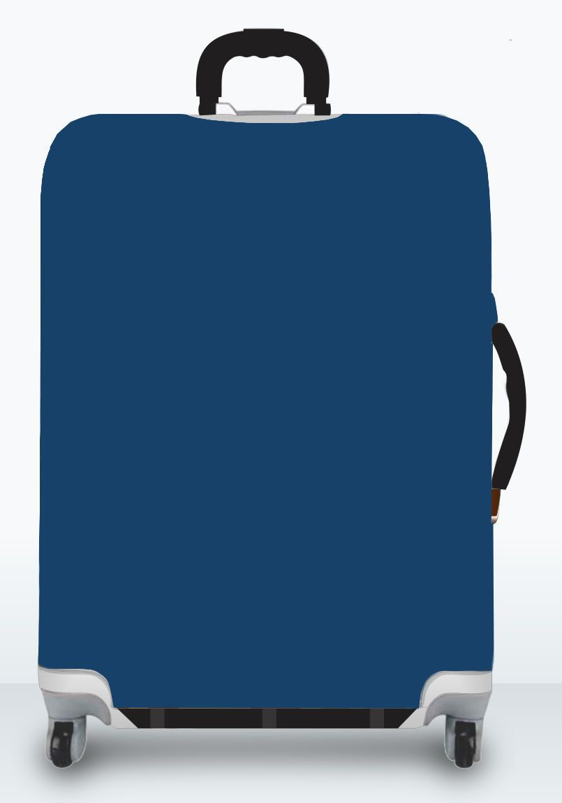 Capa Para Mala Lisa Azul Marinho