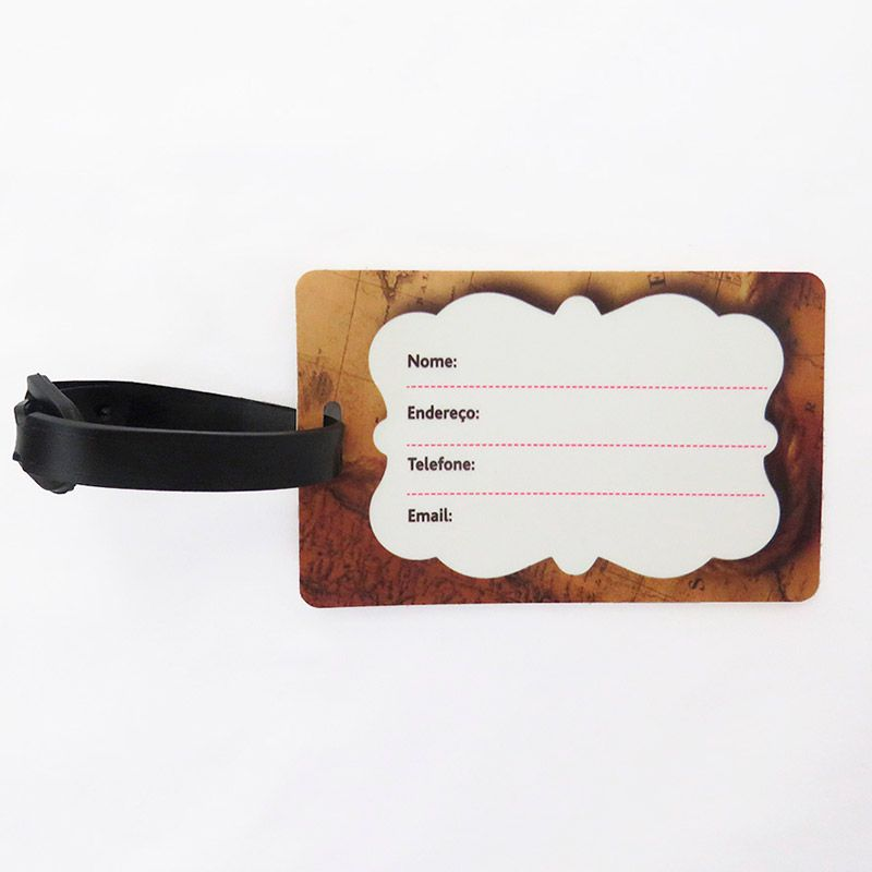 Capa Para Mala Bordado Flores + Identificador de Bagagem