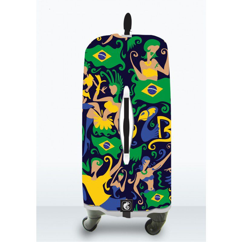Capa Para Mala Brazil Colours