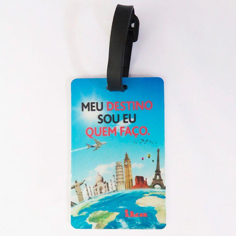 Capa Para Mala Brazil Colours + Identificador de Bagagem