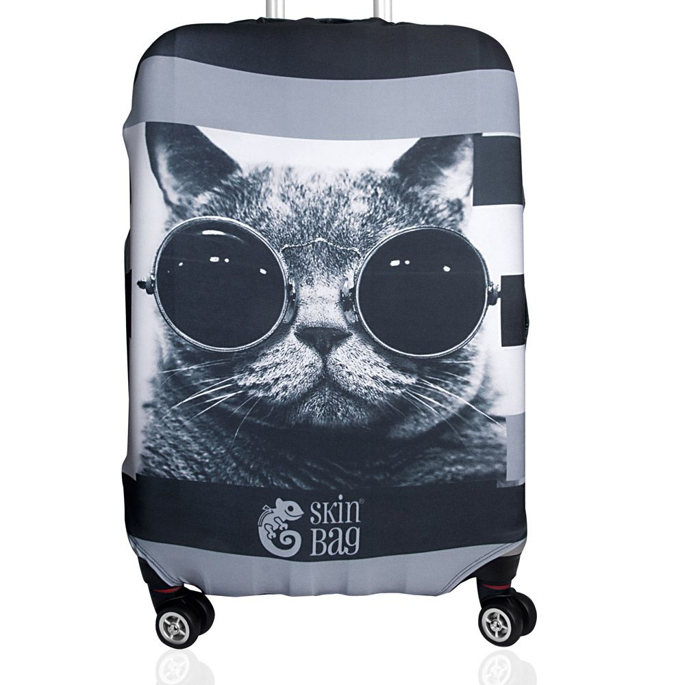 Capa Para Mala Gato de Óculos