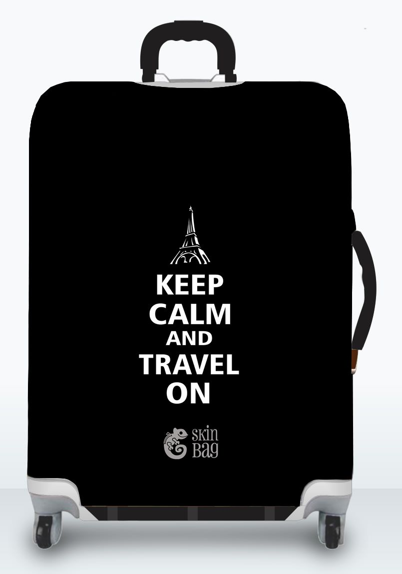 Capa Para Mala Keep Calm Black