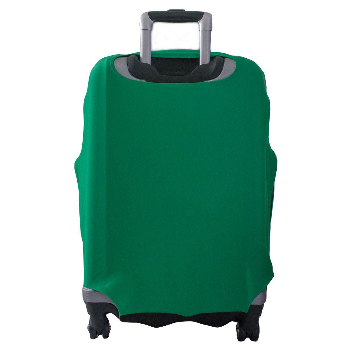 Capa Para Mala Lisa Verde Bandeira - Skinbag