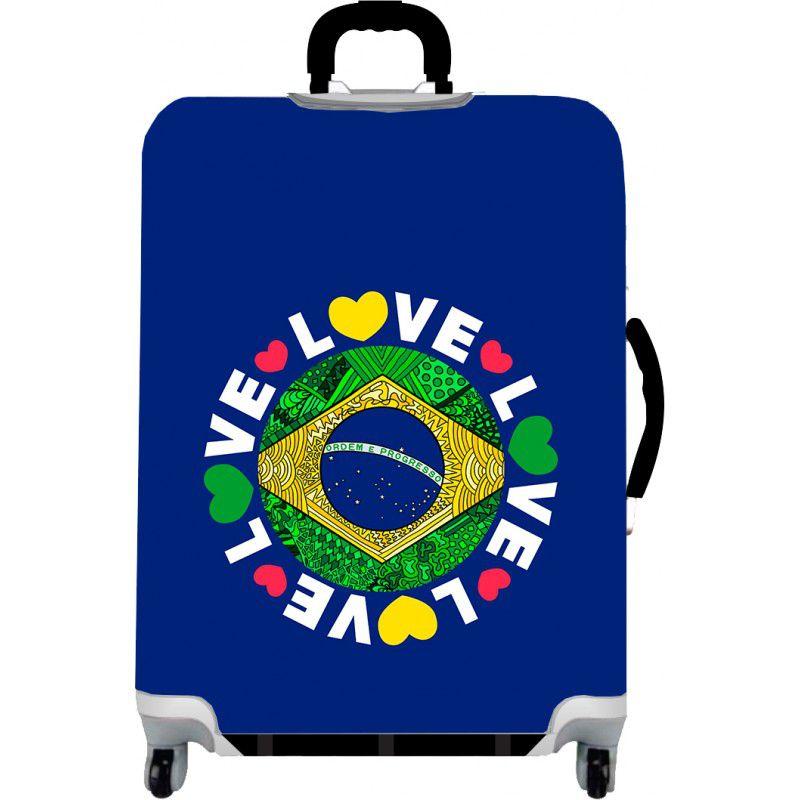 Capa Para Mala Love Brasil