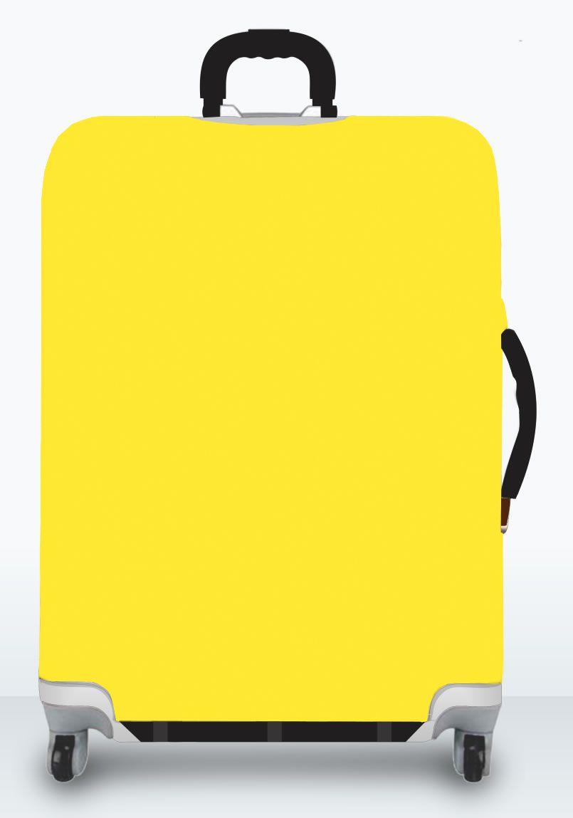 Capa Para Mala Lisa Amarela