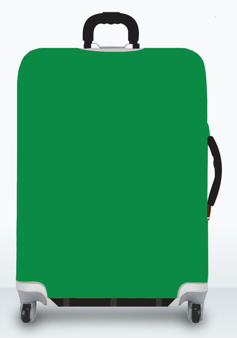 Capa Para Mala Lisa Verde Bandeira