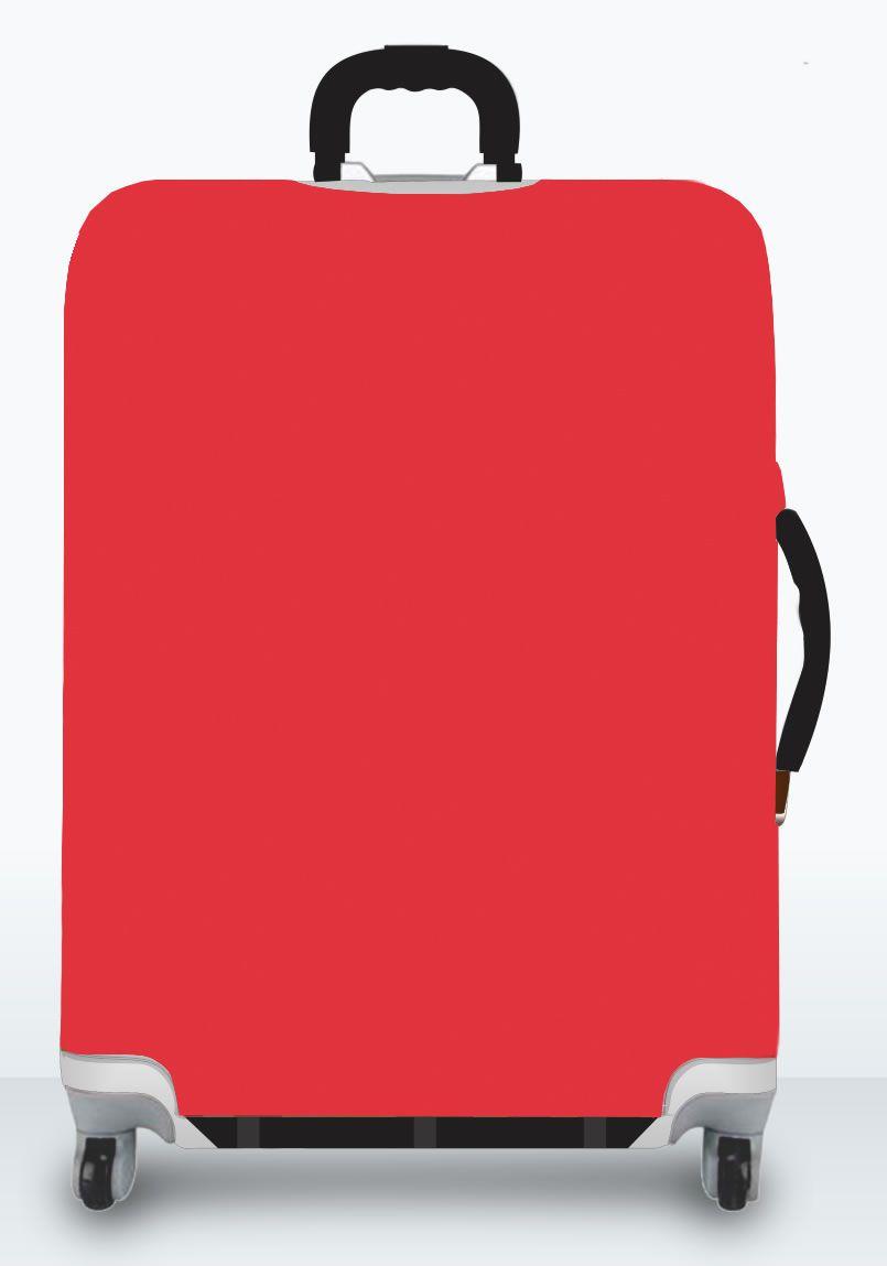 Capa Para Mala Lisa Vermelha
