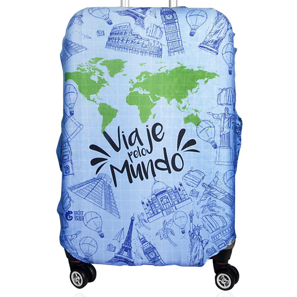 Capa Para Mala Viaje Pelo Mundo