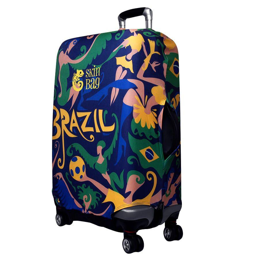 Capa Protetora para Mala Brazil Colours - Skinbag