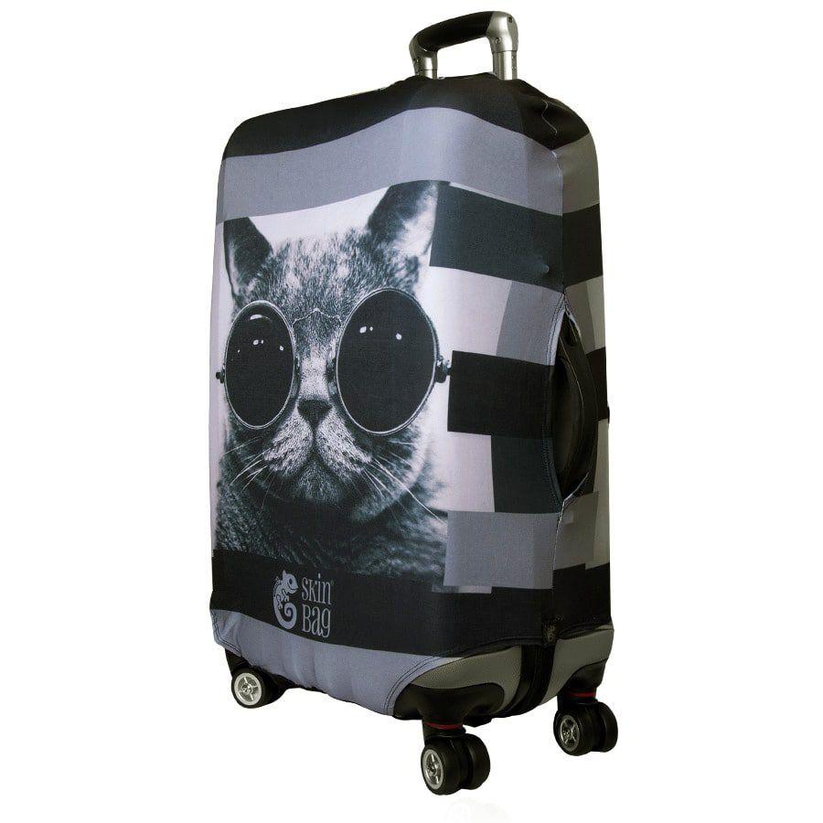 Capa Protetora para Mala Gato de Óculos - Skinbag