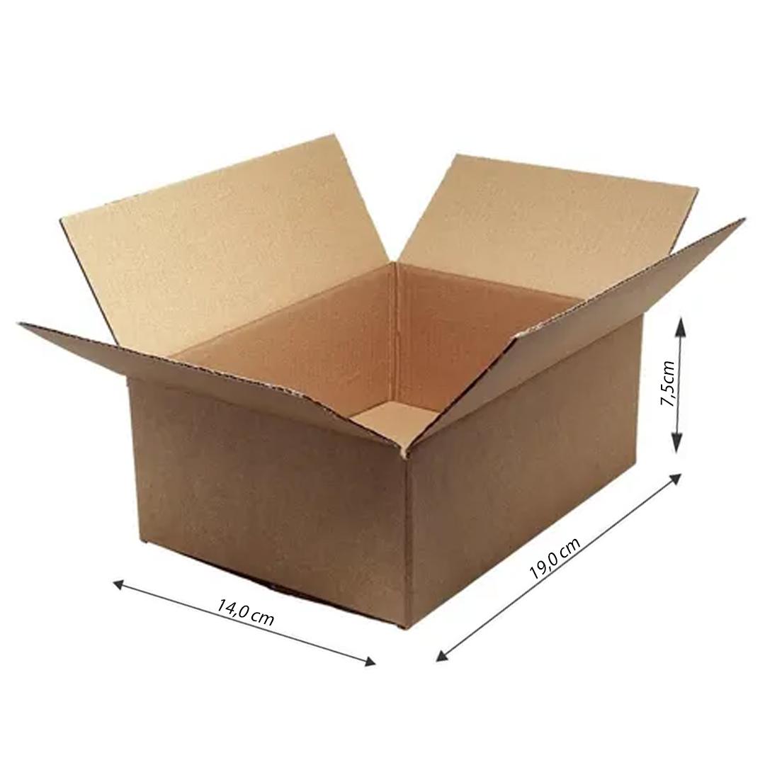 100 Caixas de Papelão Para Sedex Pac Correios Envios 19x14x7,5 Cm