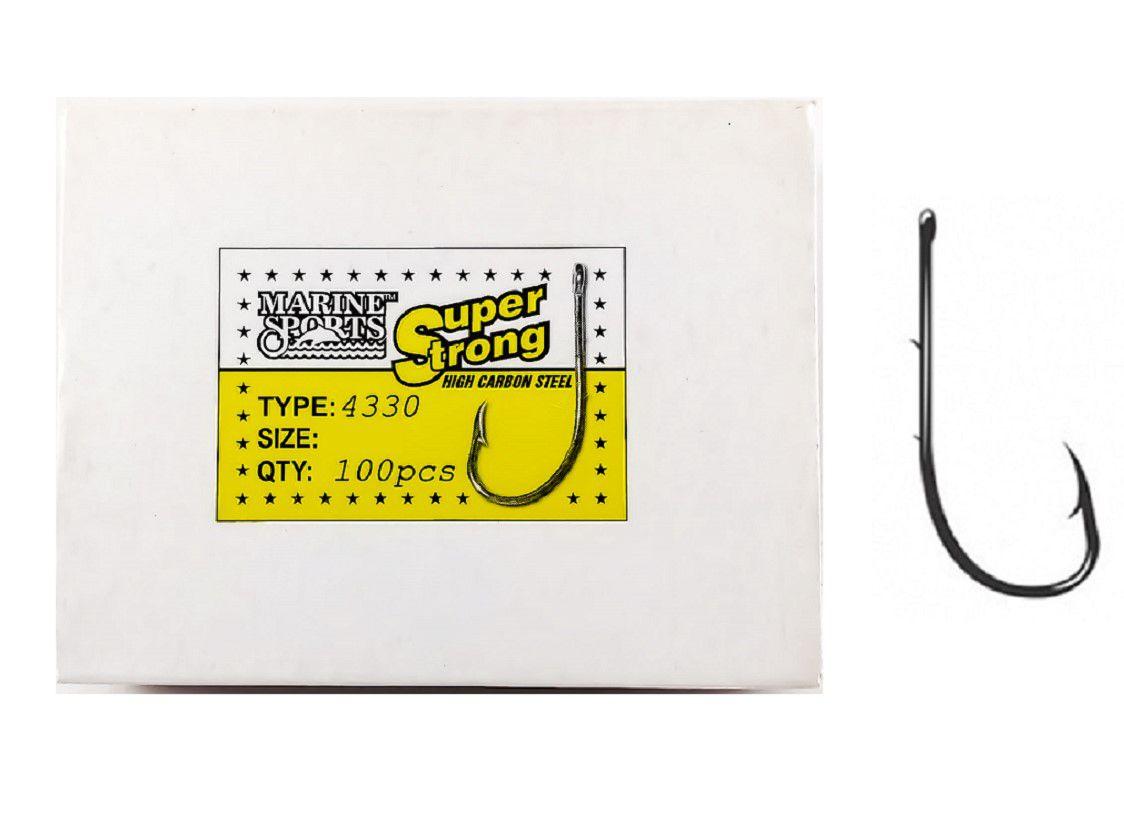 Anzol Marine Sports Super Strong 4330 - 6/0 Pacote 10un