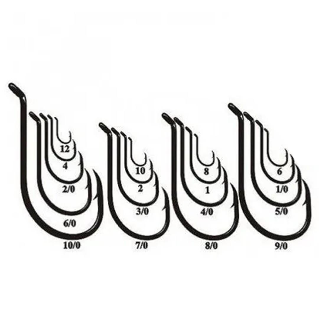 Anzol Pesca Marine Sports 12146 N°2 (2,2cm) Black 50 Peças