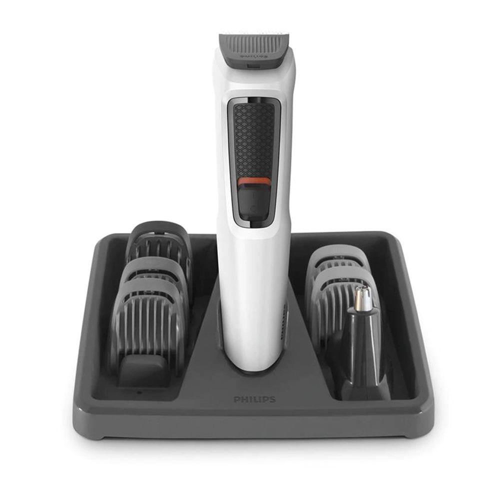 Aparador de Pelos Cabelo Barba Philips Multigroom MG3721/77 Branco Bivolt