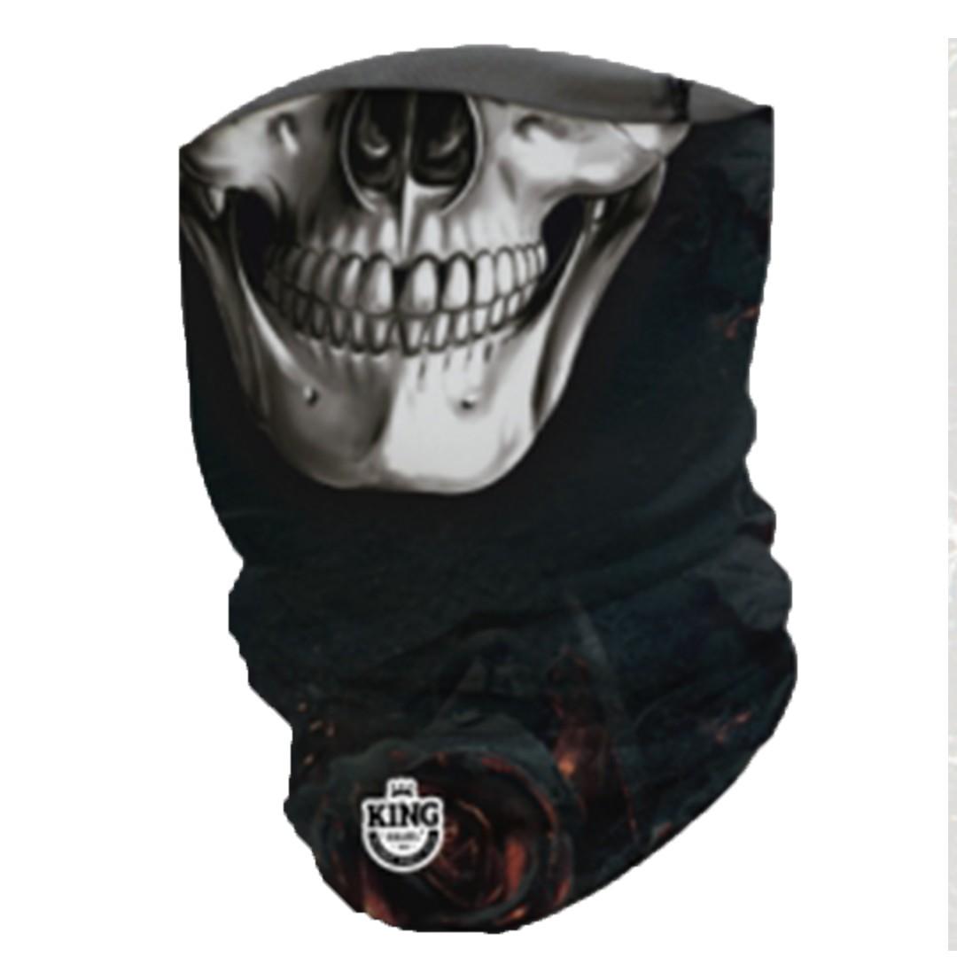 Bandana Mascara Pesca King com Proteção Solar UV 09 Caveira