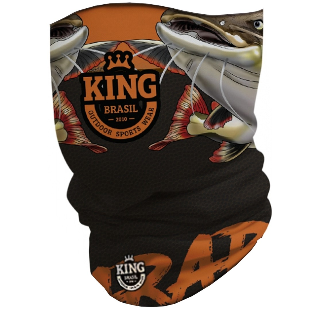 Bandana Mascara Pesca King com Proteção Solar UV 10 Pirarara Nova