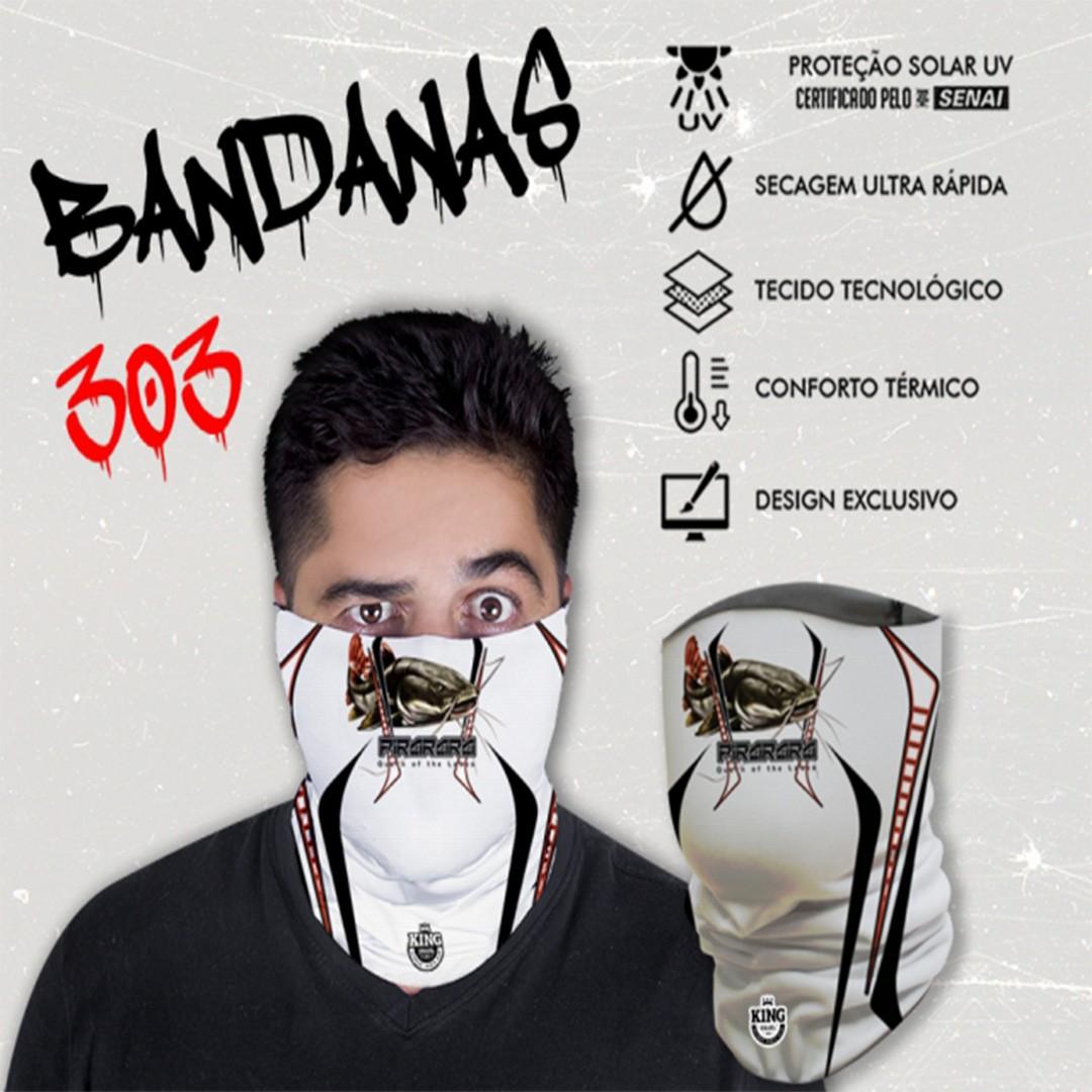 Bandana Mascara Pesca King com Proteção Solar UV 303 Pirarara