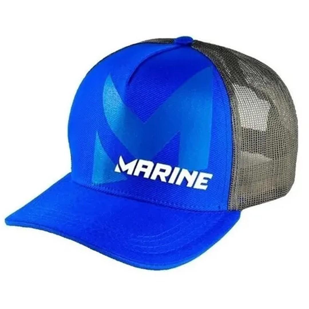 Boné Pesca Ajustável Marine Sports Americano Azul