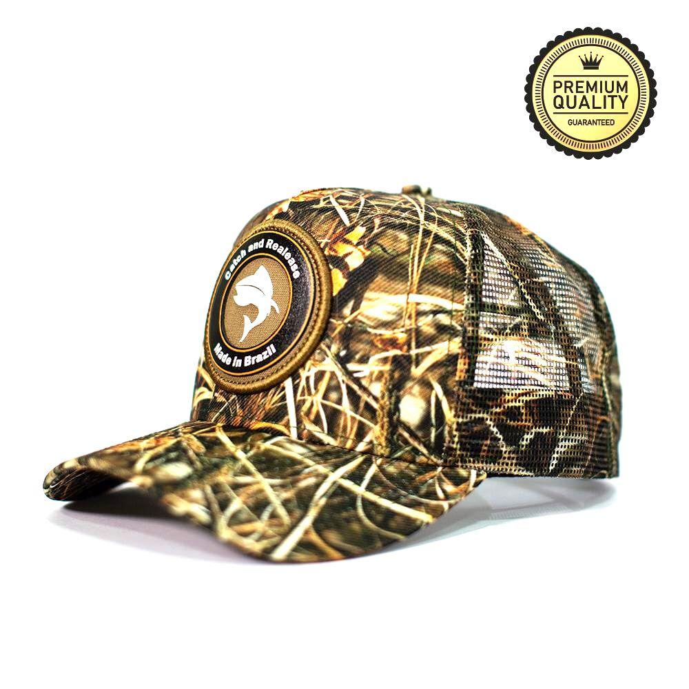 Boné Vida de Pescador Premium Ajustável com Tela Vários Modelos