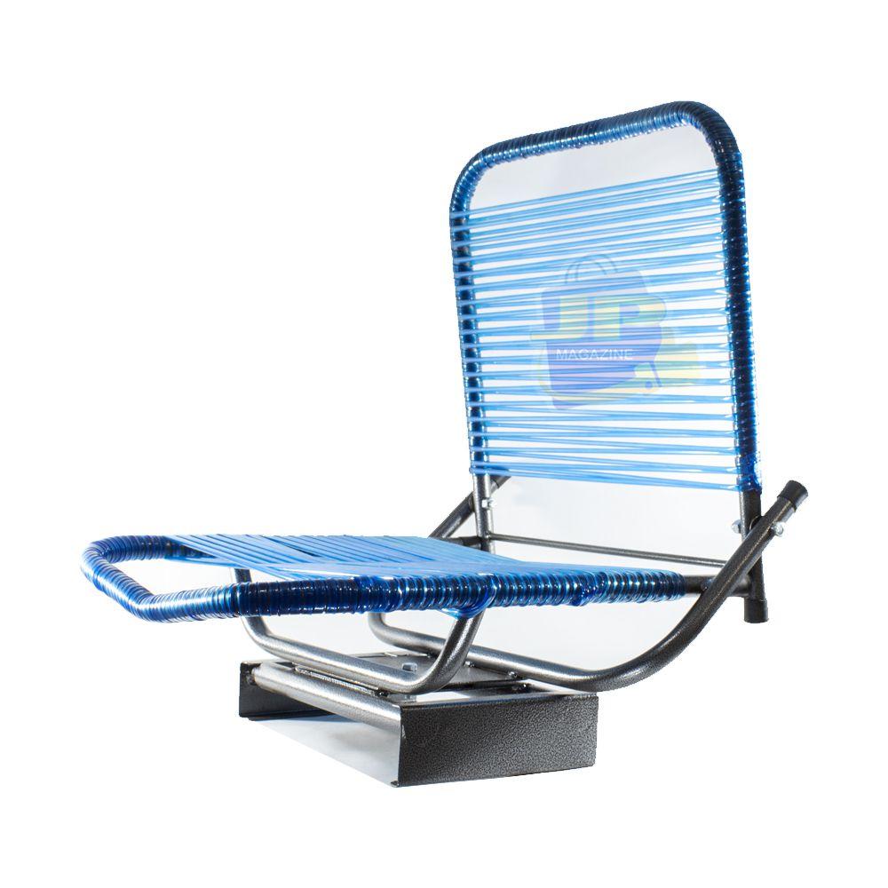 Cadeira de fio giratória com encosto dobrável para canoa ou barco