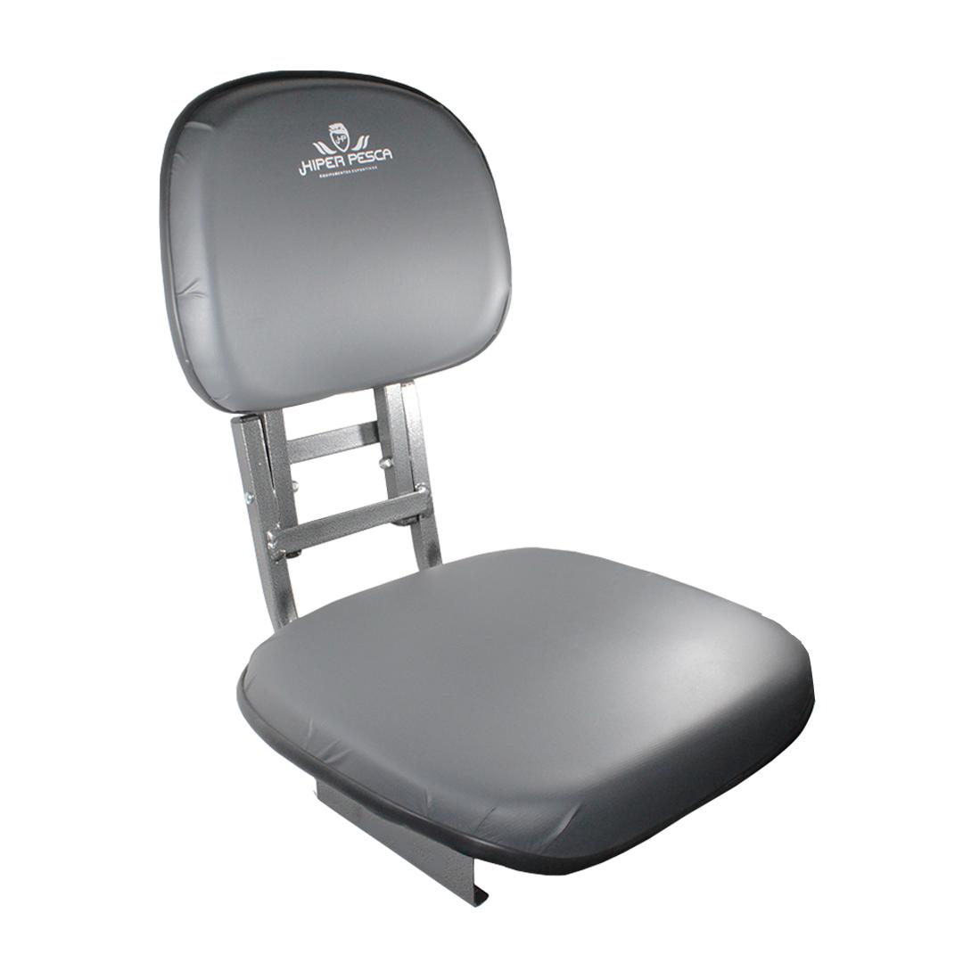 Cadeira Estofada Giratória Híper Pesca Encosto Dobrável para Canoa Barco