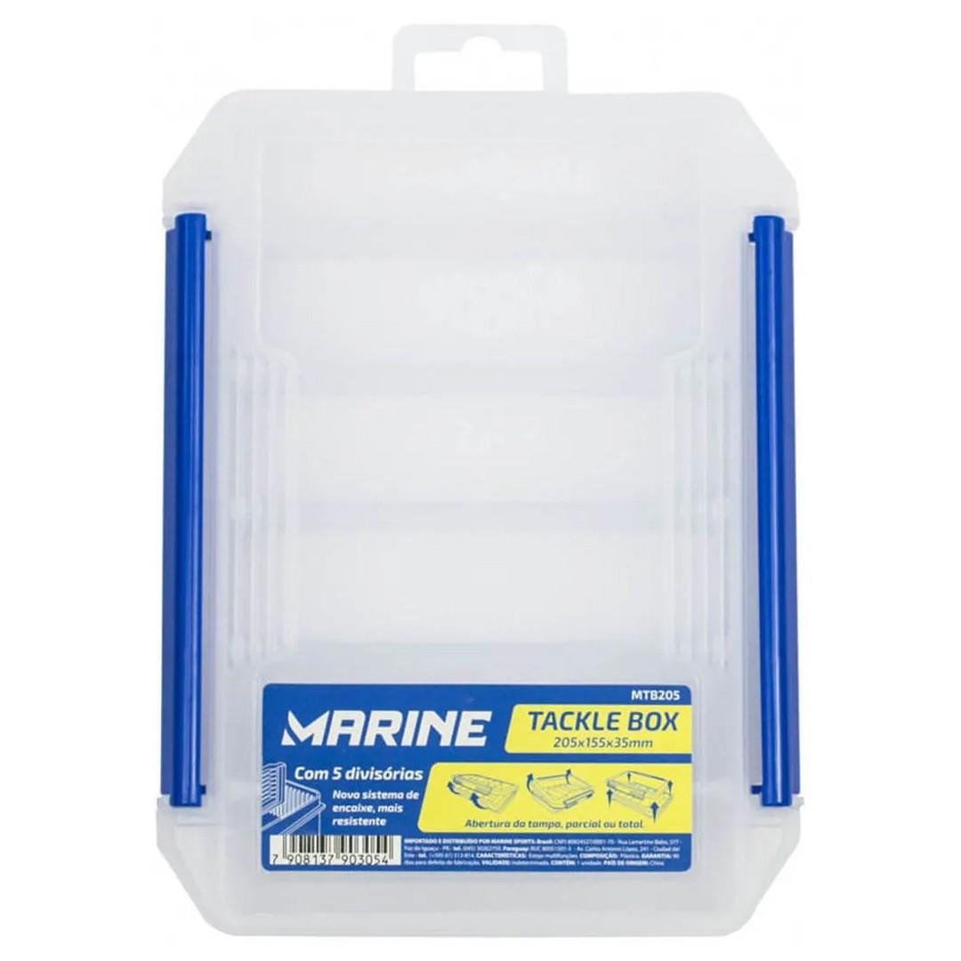 Caixa Estojo Marine Sports Tackle Box MTB205 Para Isca Artificial 5 Divisórias