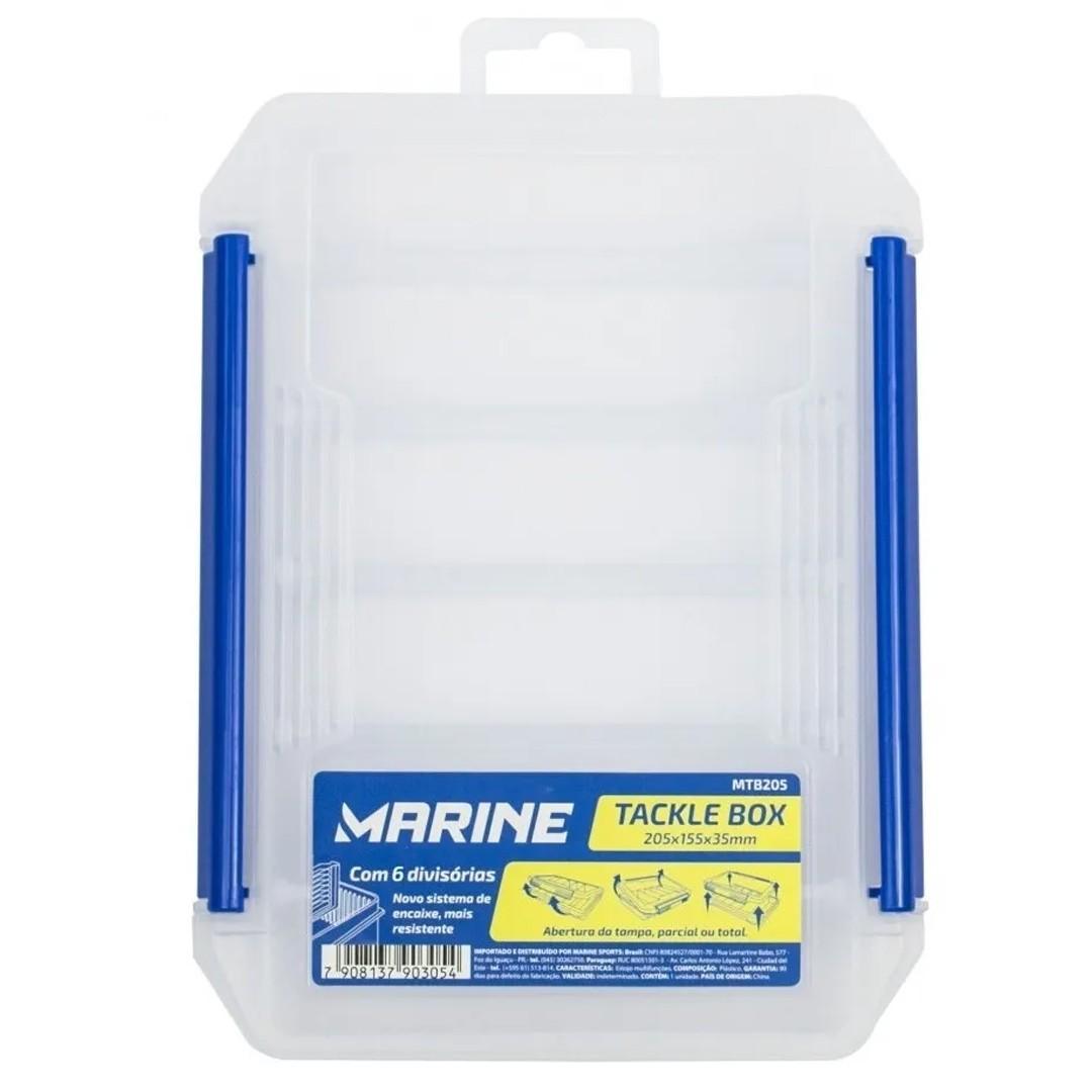 Caixa Estojo Marine Sports Tackle Box MTB255 Para Isca Artificial 6 Divisórias
