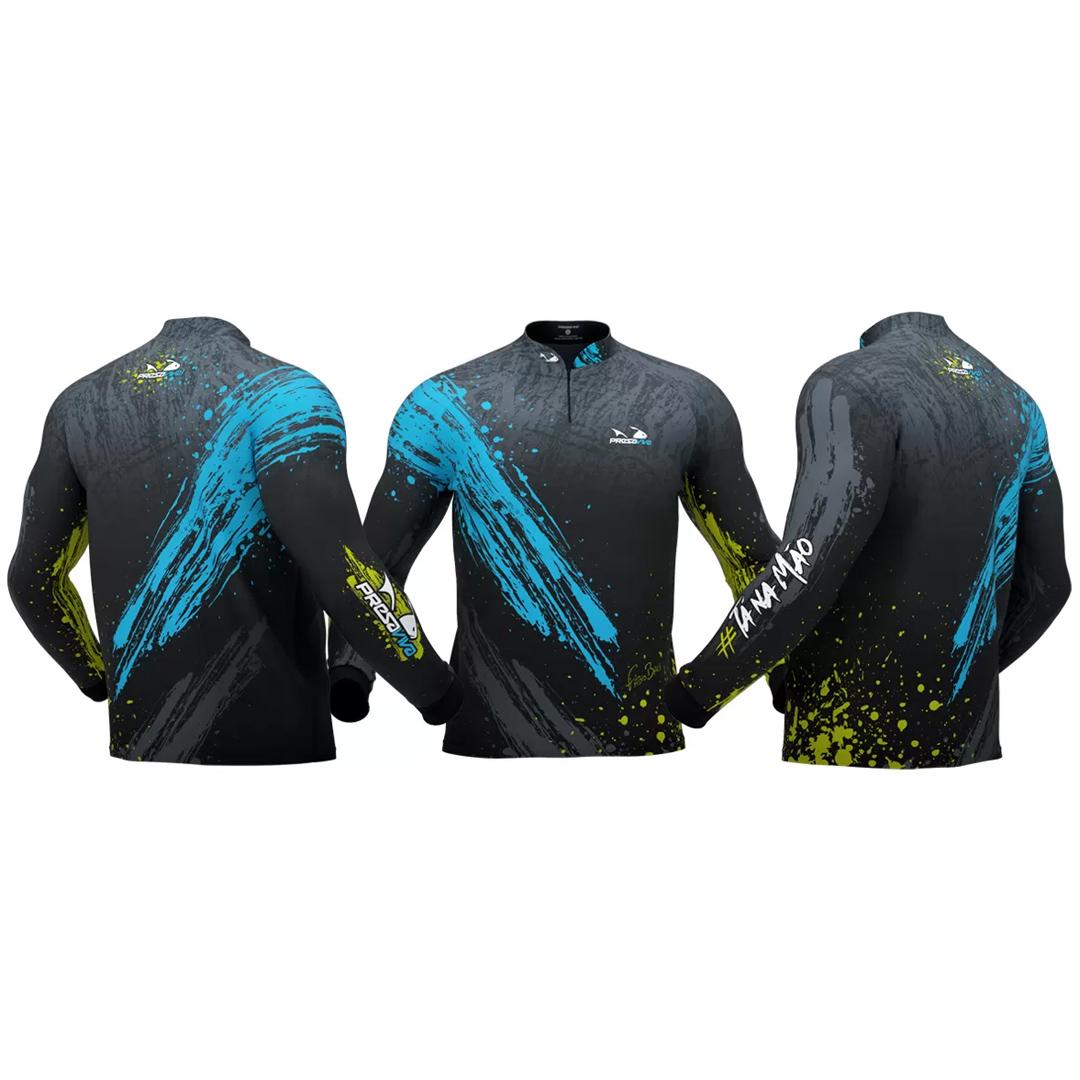 Camiseta de Pesca Masculina Presa Viva com Proteção Solar UV30+ Baca 03