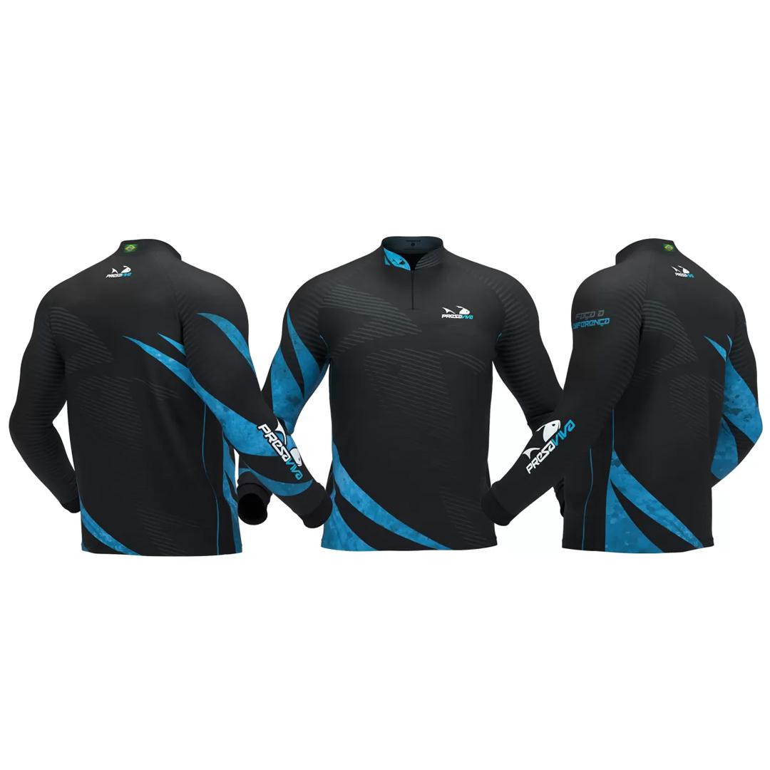 Camiseta de Pesca Masculina Presa Viva com Proteção Solar UV30+ PV 13