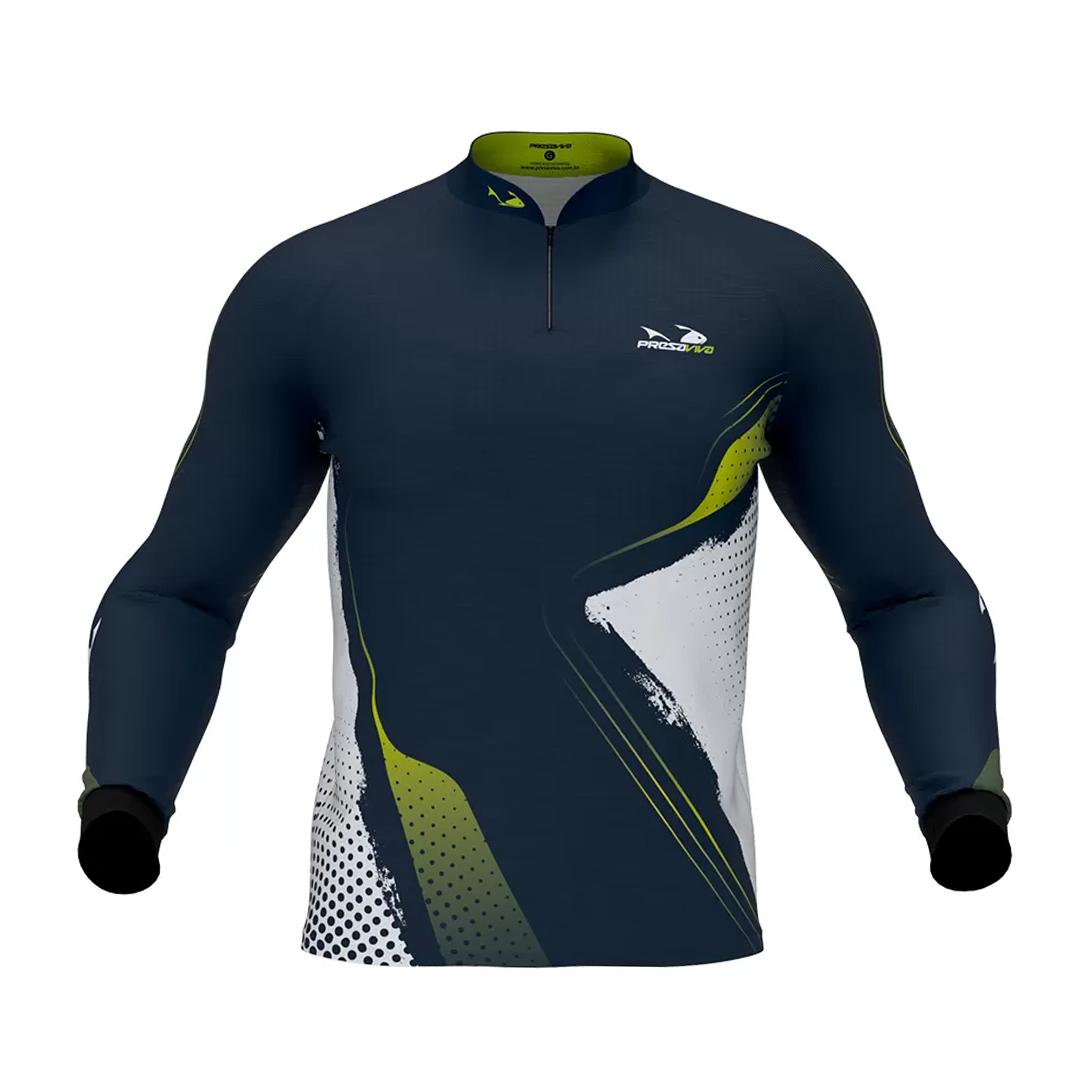 Camiseta de Pesca Masculina Presa Viva com Proteção Solar UV30+ PV 14