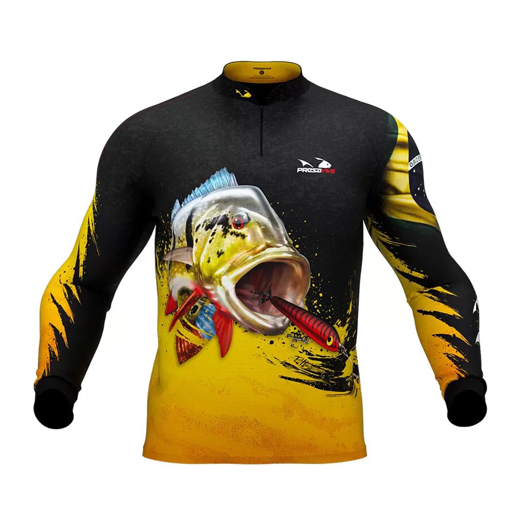 Camiseta de Pesca Masculina Presa Viva com Proteção Solar UV30+ Tucunaré Açu 04