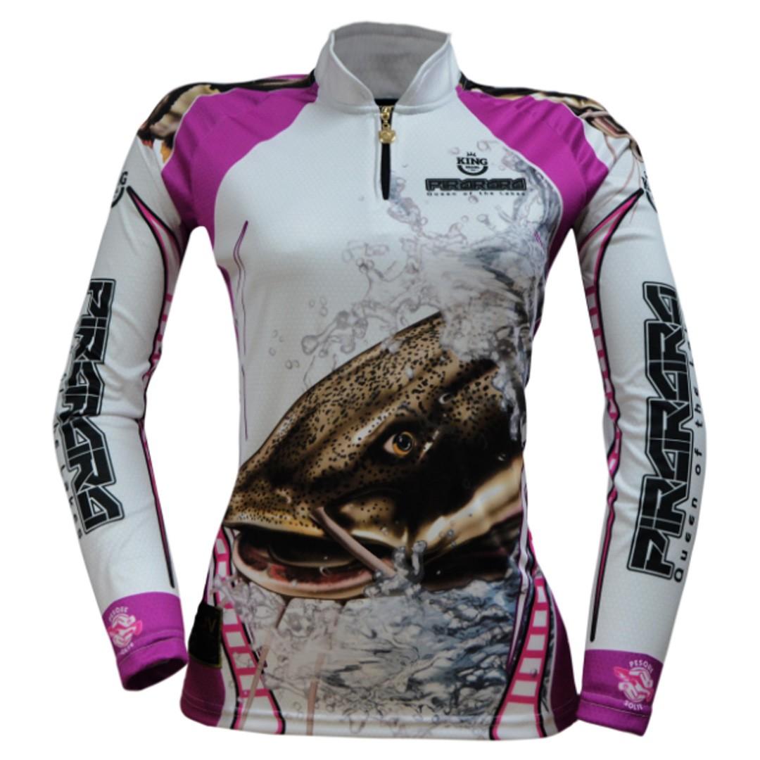 Camiseta de Pesca Proteção Solar UV King Feminina KFF401