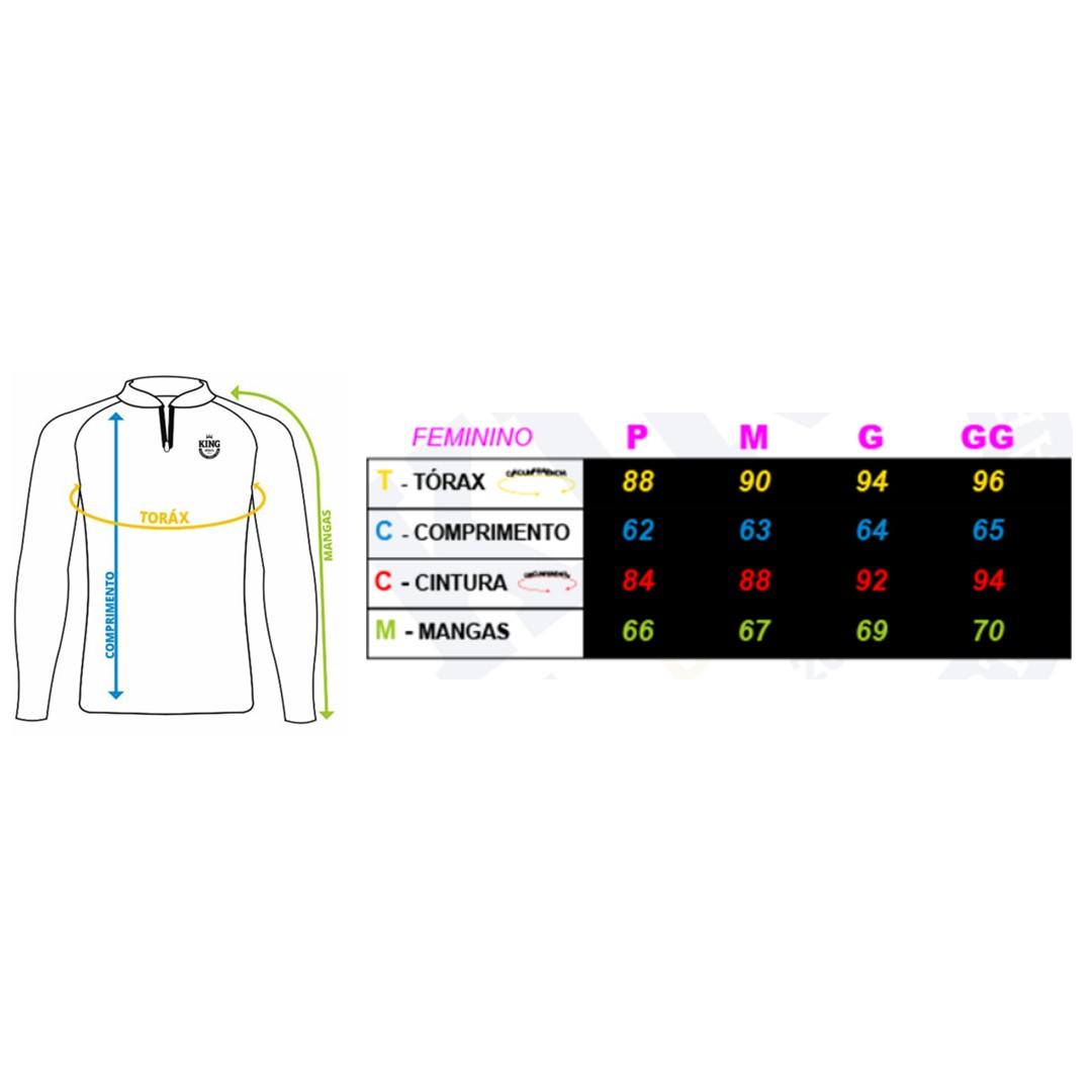 Camiseta de Pesca Proteção Solar UV King Feminina KFF601