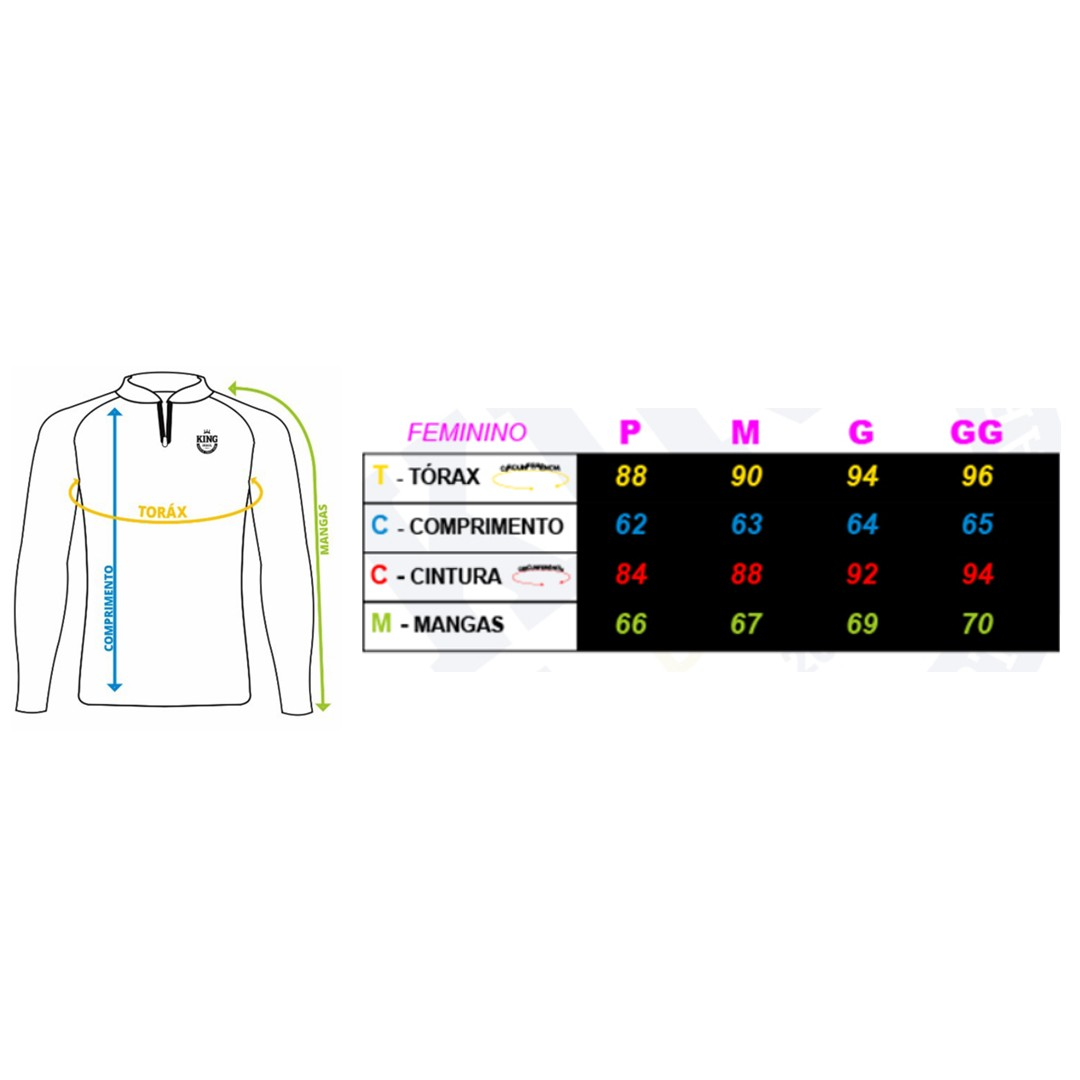 Camiseta de Pesca Proteção Solar UV King Feminina KFF603