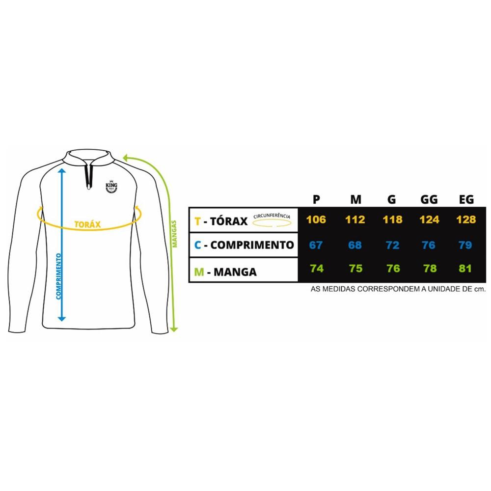 Camiseta de Pesca Proteção Solar UV King Folhas KFF69