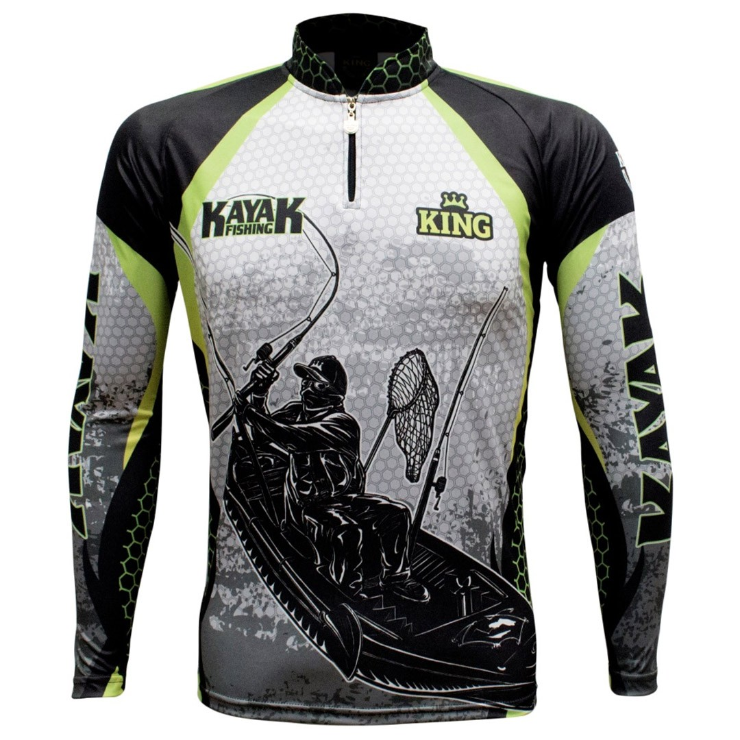 Camiseta de Pesca Proteção Solar UV King Kaiak KFF616