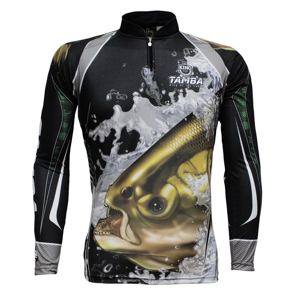 Camiseta de Pesca Proteção Solar UV King Tamba KFF304
