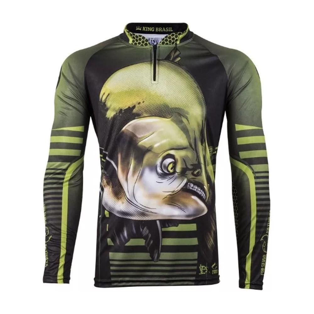 Camiseta de Pesca Proteção Solar UV King Tamba KFF81