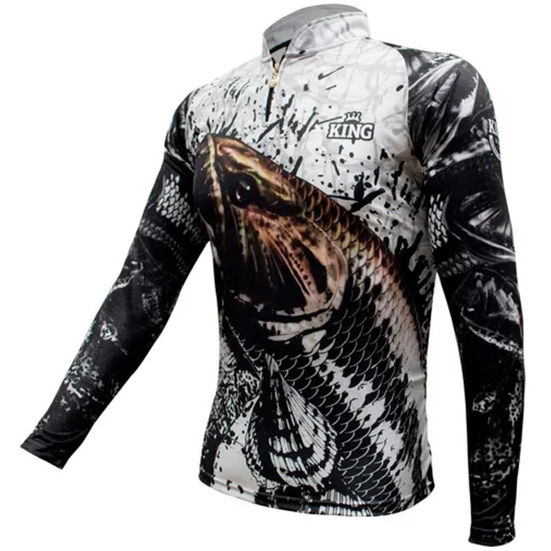 Camiseta de Pesca Proteção Solar UV King Traíra KFF360