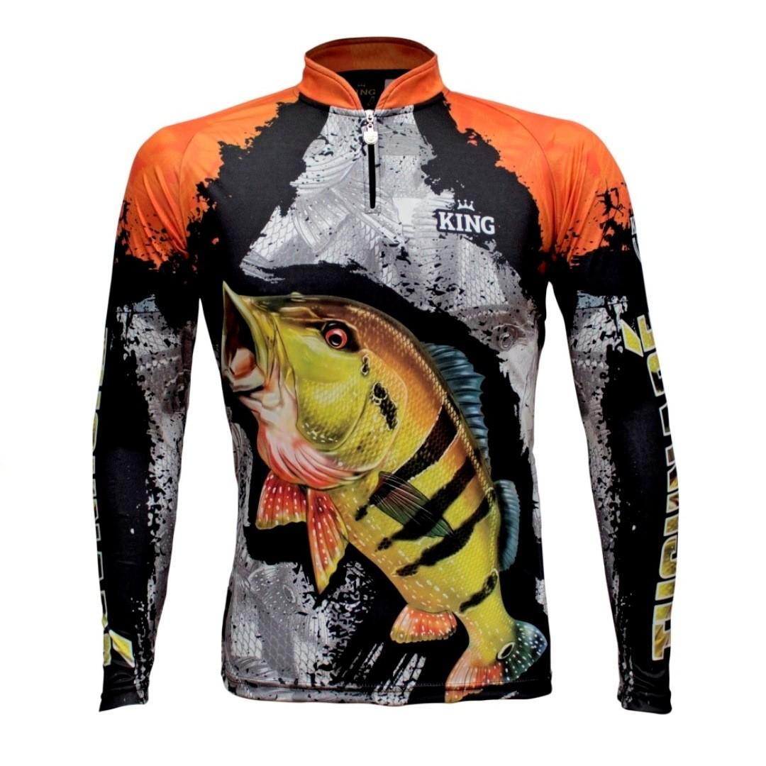 Camiseta de Pesca Proteção Solar UV King Tucunaré KFF600