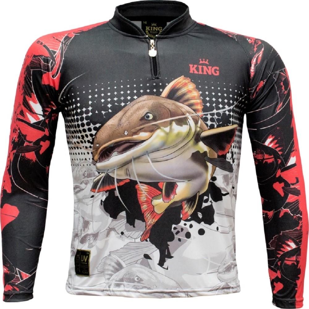 Camiseta de Pesca Proteção UV King Infantil Pirarara KFF602