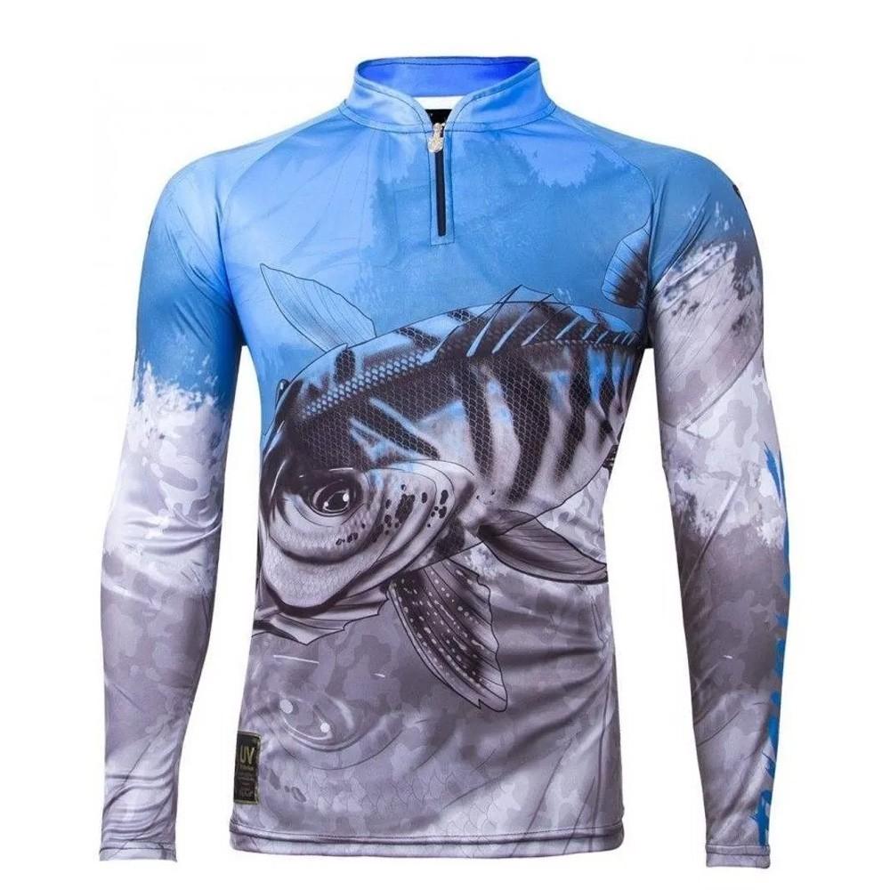 Camiseta de Pesca Proteção UV King Infantil Tucunaré KFF106