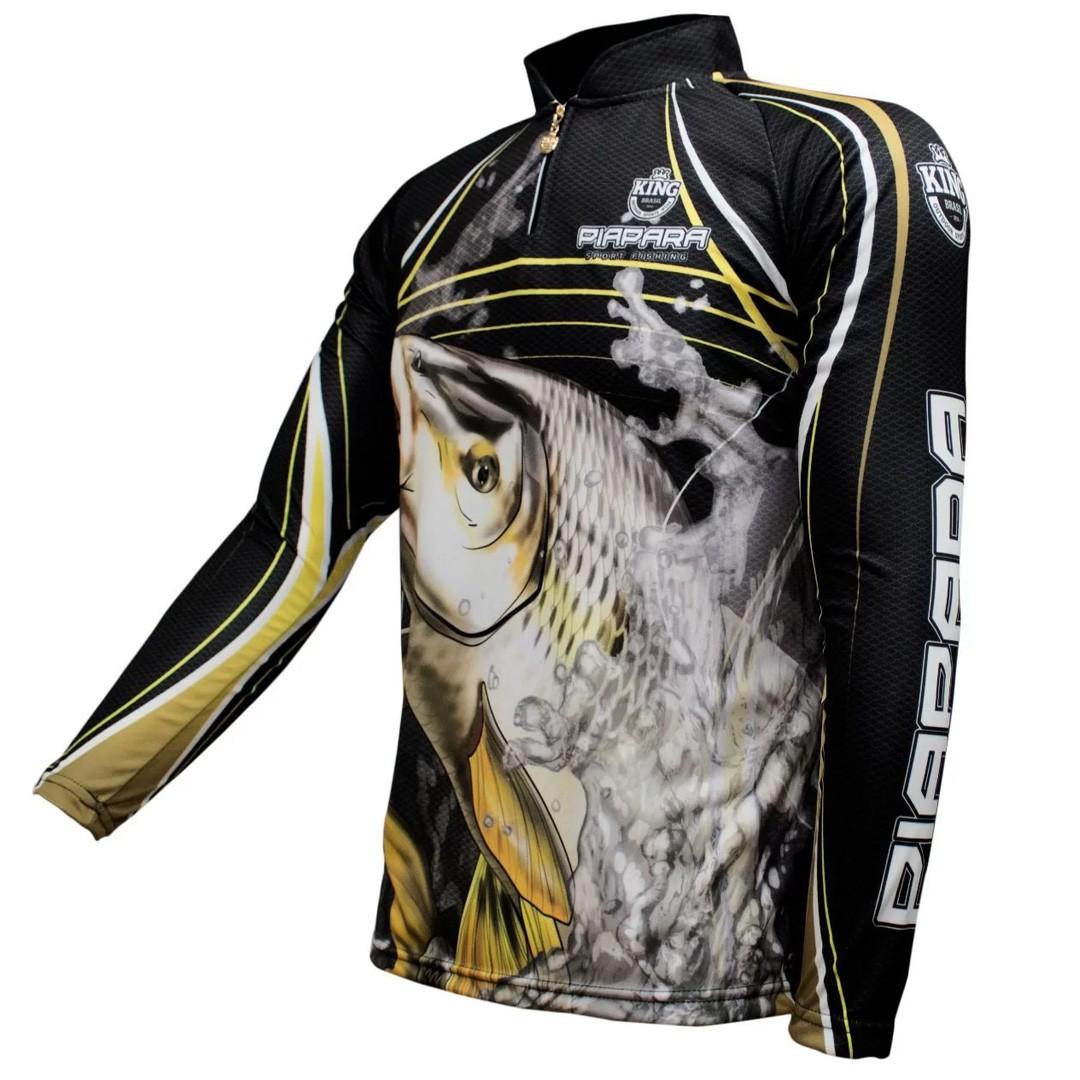 Camiseta Pesca com Proteção Solar UV King Piapara KFF305
