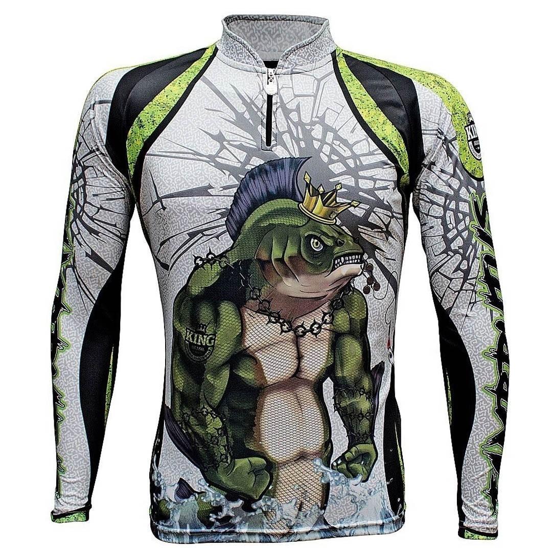 Camiseta Pesca com Proteção Solar UV King Tambrutus KFF505